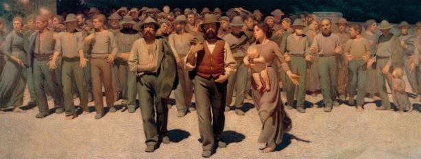 Il quarto stato (o il cammino dei lavoratori) de Giuseppe Pellizza da Volpedo.
