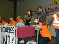També ha parlat davant dels assistents una representant del sindicat d'estudiants.