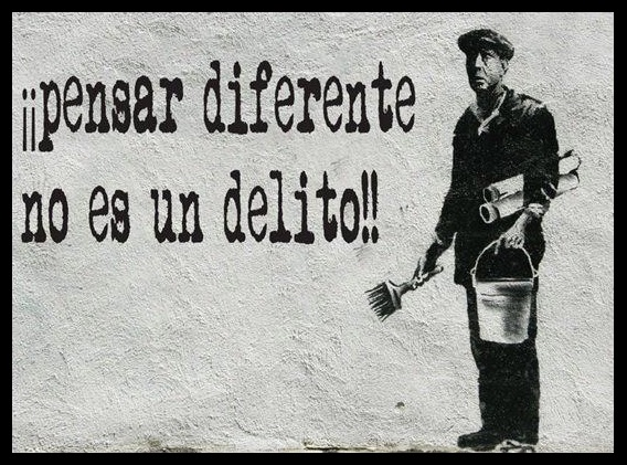 Pensar diferentes no es delito